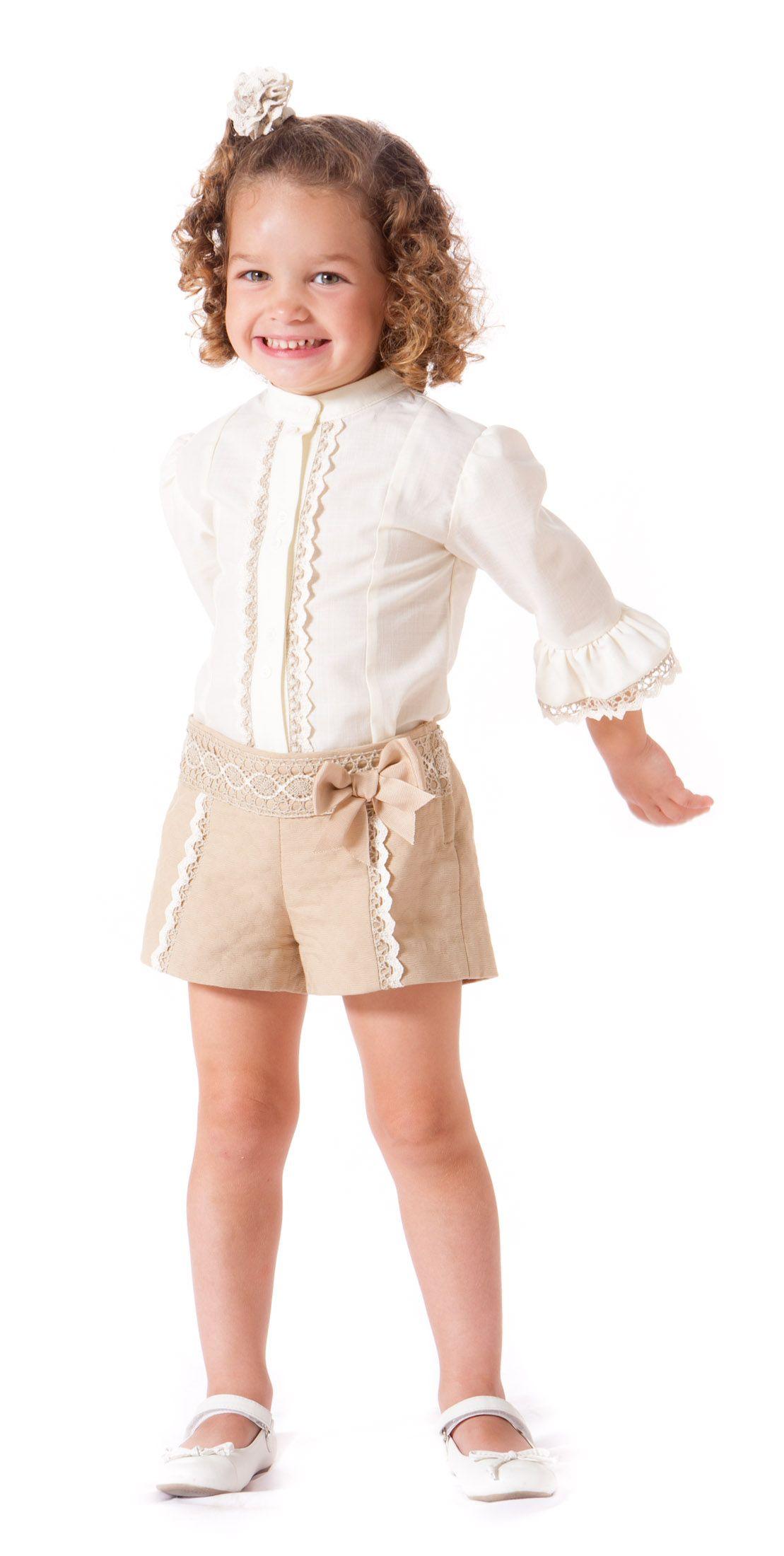 Conjunto de short y camisa para niña paraisobebe.com ropa 057f8279625