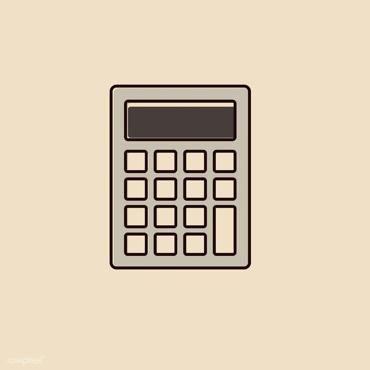 Calculator App Cover Kalkulator Ikon Aplikasi Ikon