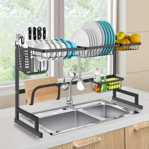 Best Dish Drying Racks Over Sink Display Stand In 2019 Reviews Dish Racks Kitchen Storage Shelves Dish Rack Drying