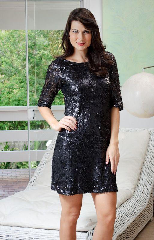 2246c71cf Santa Rainha: Vestido de Paetê Preto | Sou menina sou mulher (moda ...