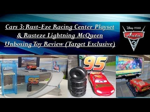 Cars3 Rust Eze Racing Center Playset Rusteze Lightning Mcqueen