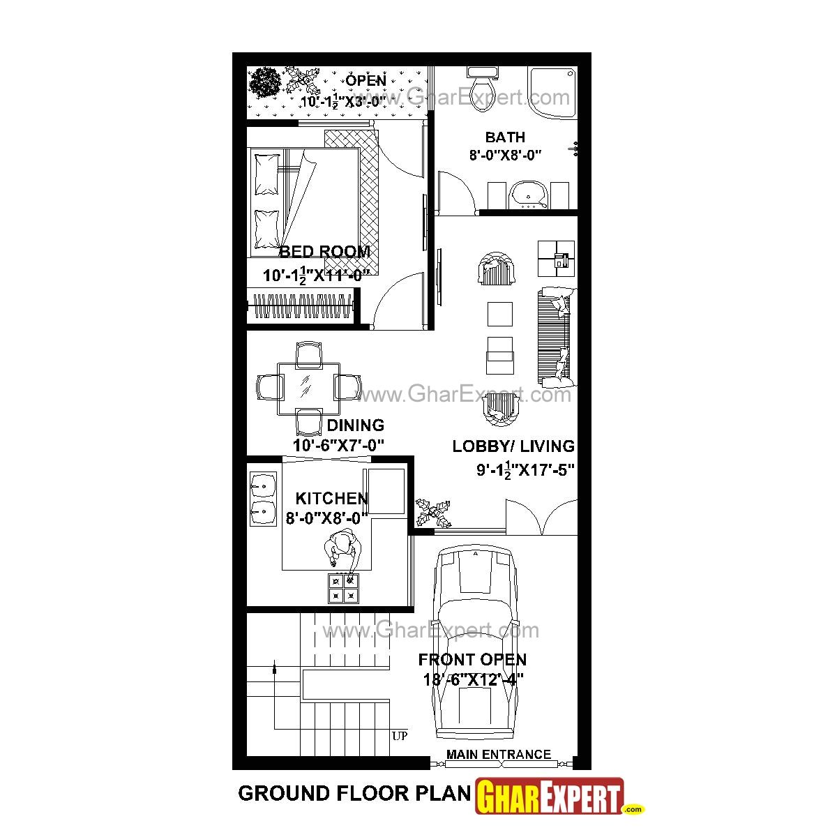 20x40 House Plan 3d 20x40 House Plans 2bhk House Plan House Plans With Pictures