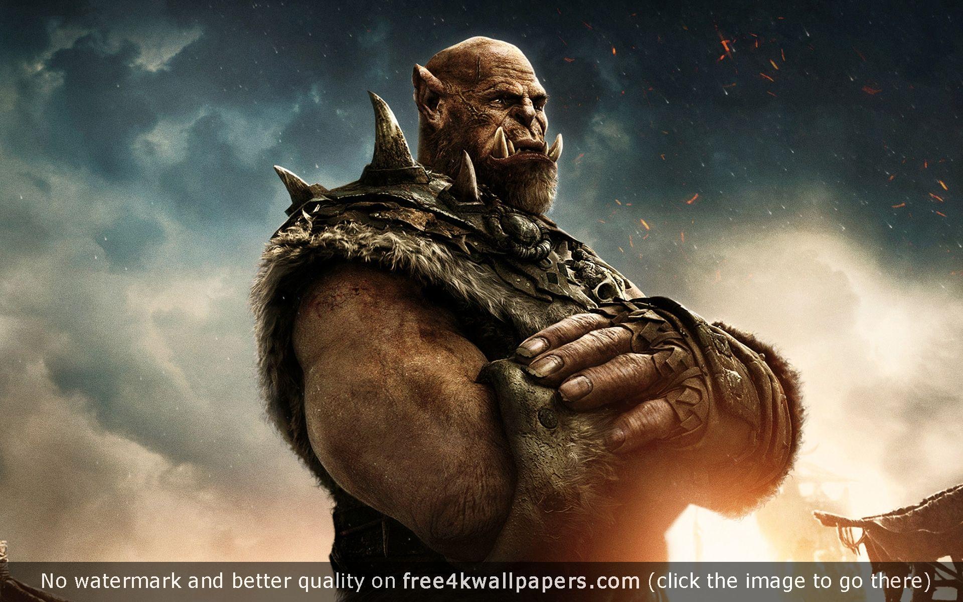 Orgrim Warcraft Movie Wallpaper Garoña 1440x2560
