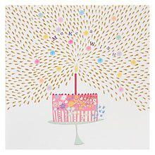 Buy Woodmansterne Make A Wish Cake Birthday Card Online At Johnlewis Com Happy Birthday Cards Birthday Greeting Cards Happy Birthday Tag