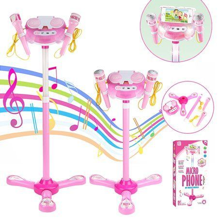 Kid Karaoke System Machine Toy Set Music MP3 Player With 2 Microphones Built in Speaker AUX Cable to Connect to All Your Electronic Devices for Music #karaokeplayer Kid Karaoke System Machine Toy Set Music MP3 Player With 2 Microphones Built in Speaker AUX Cable to Connect to All Your Electronic Devices for Music #karaokesystem