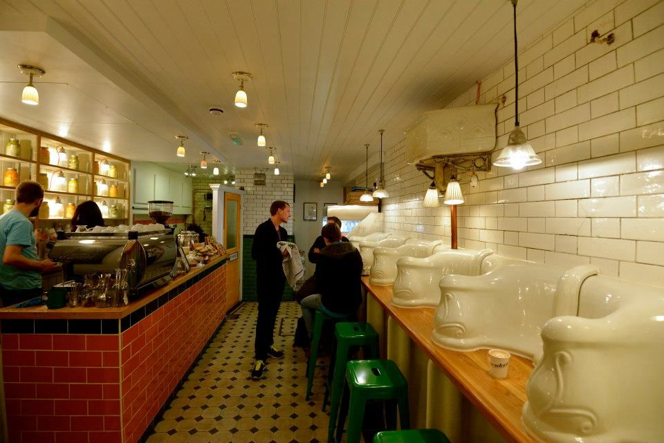 The Attendant: Abandoned Toilet Transformed into a Coffee Shop, 27a Foley Street, London W1W 6DY | London cafe, Victorian toilet, Victorian urinals