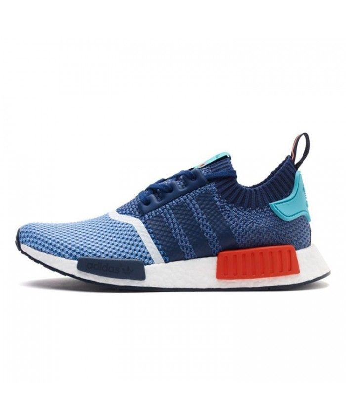 74a008a99b056f Cheap Adidas Consortium NMD Runner Pk Primeknit Clear Sky Dark Blue Light  Aqua Bb5051