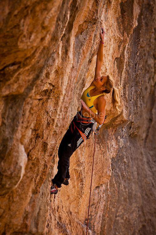 female extreme climber and - photo #17