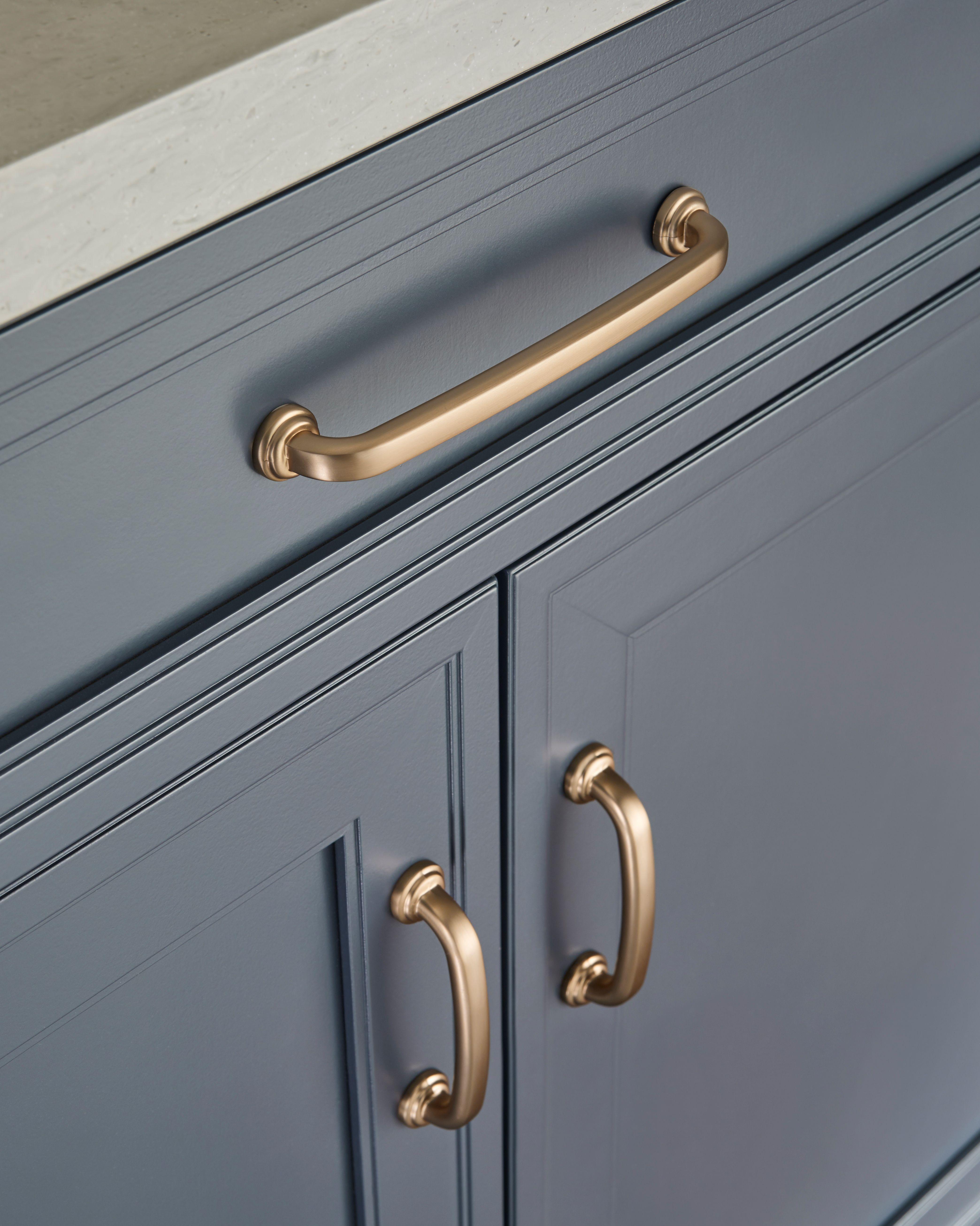 Satin Bronze Cabinet Hardware From Jeffrey Alexander S Bremen
