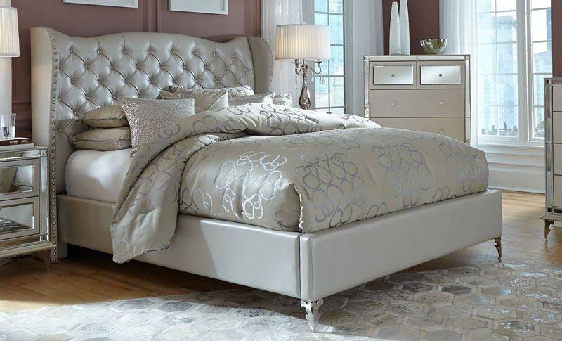 Hollywood Loft King Platform Bed The Glam Style This King Platform Bed Is The Hollywood Loft Collection By King Bedroom Sets Bedroom Sets Queen Bedroom Sets