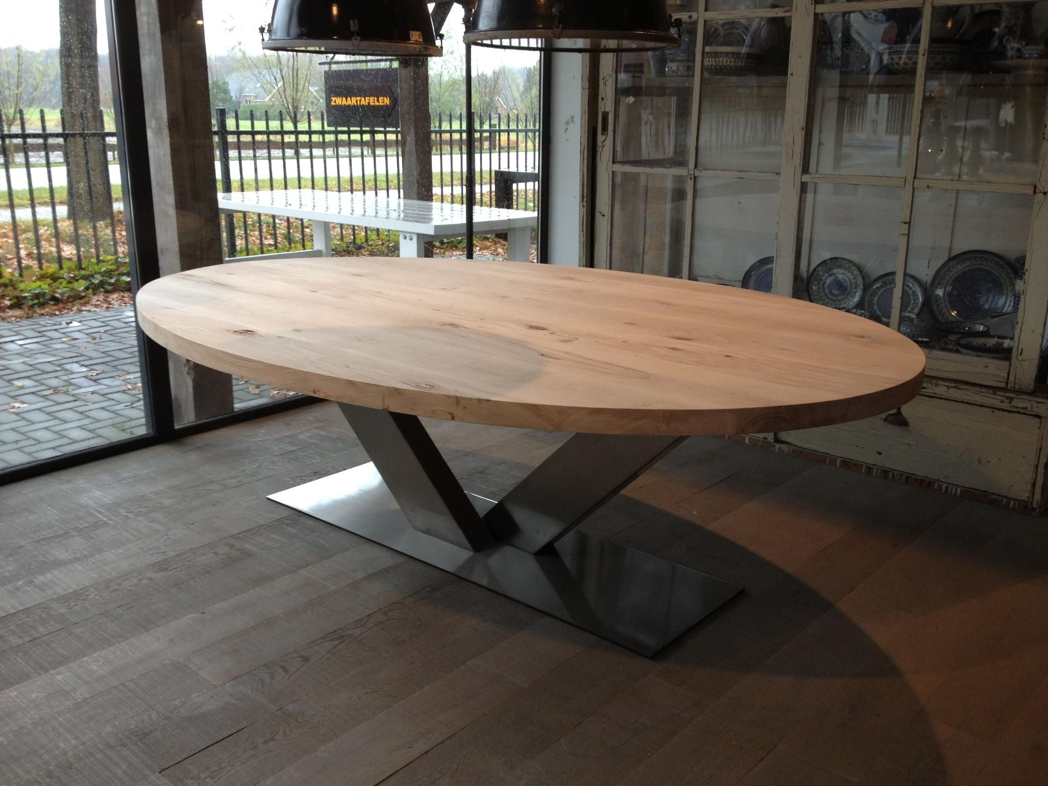 10x Ronde Salontafel : Zwaartafelen i ovale tafel www.zwaartafelen.nl meubels Κουζίνα