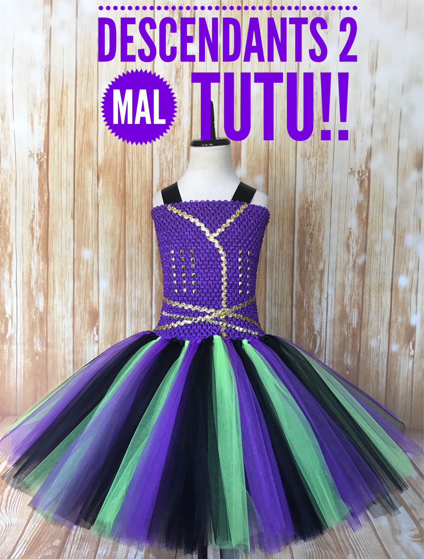 Mal Tutu, Descendants Tutu, Mal Descendants 2 Costume, Girls Mal ...
