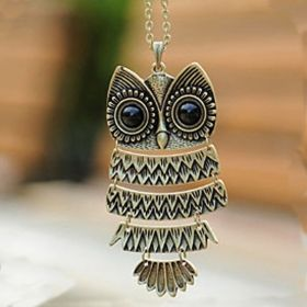 Cute Fashion Vintage Owl Shape Chain Necklace- I own this!