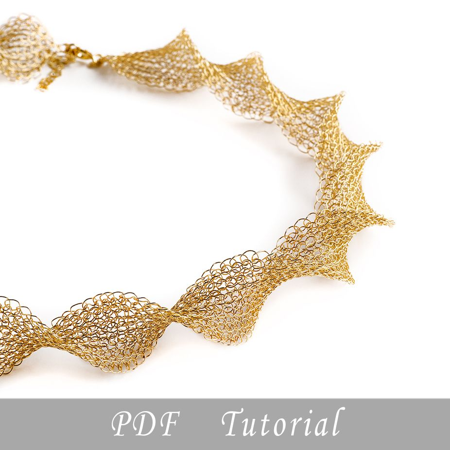 Wire crochet pattern of INFINITY necklace , Jewelry making PDF ...