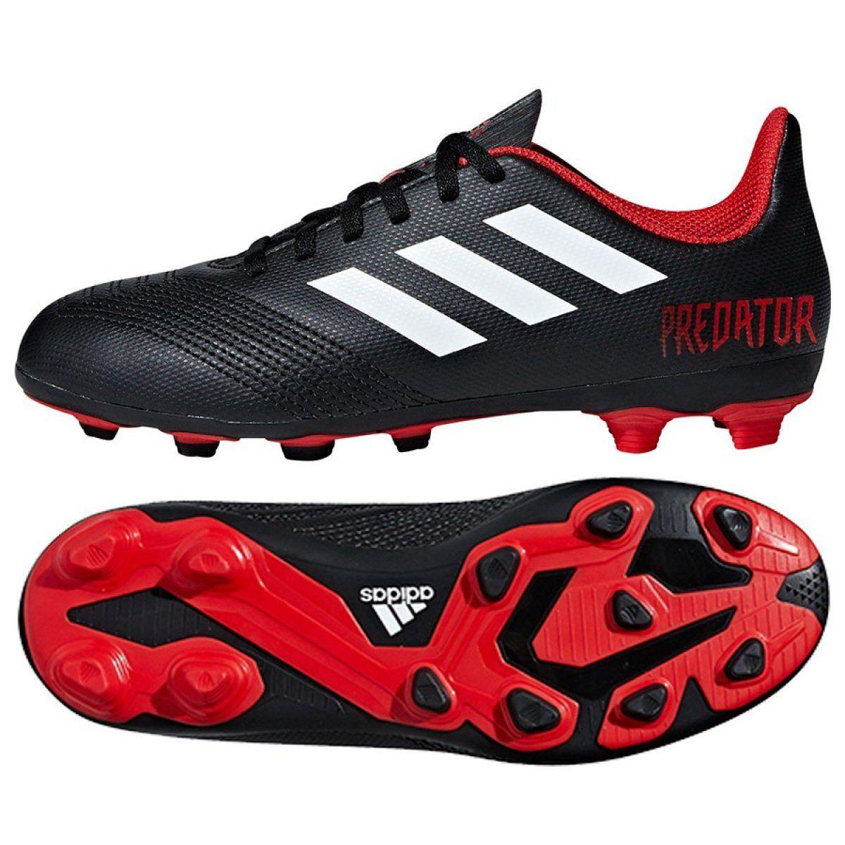 Football Boots Adidas Predator 18 4 Fxg J Jr Db2323 Black Multicolored Adidas Predator Football Boots Football Shoes