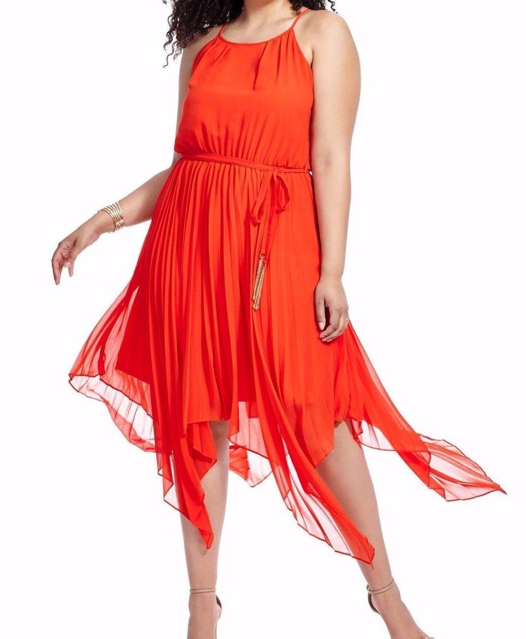 City Chic Sleeveless Chiffon Divine Pleat Maxi Dress In Roguish Red Size XL   maxi  dress  roguish  size  pleat  divine  chic  sleeveless  chiffon  city 44d83b11e
