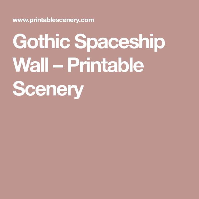 Gothic Spaceship Wall   Necromunda Terrain   Wall, Gothic, Metal walls