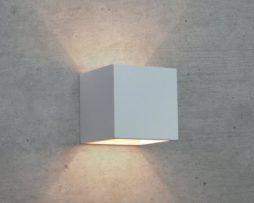 Applique in gesso lampada a parete moderno attacco g cubo up down