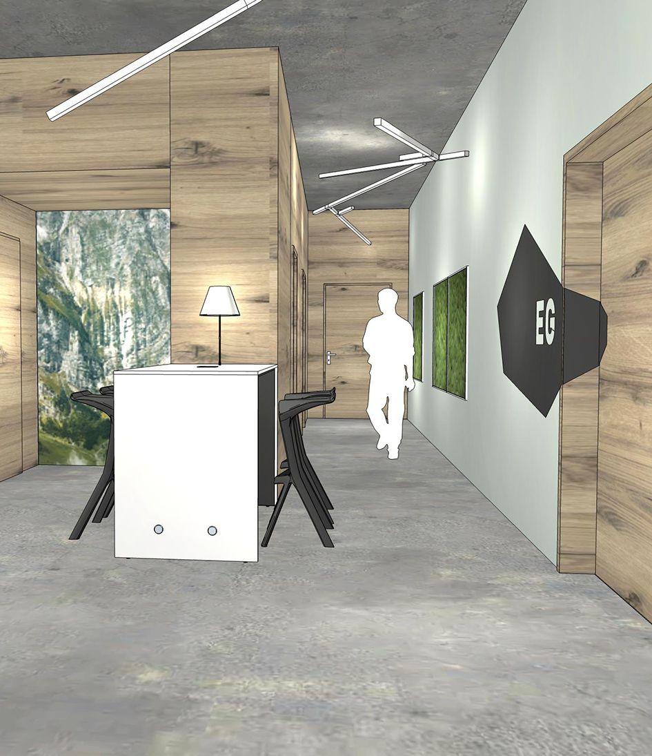 Innenarchitektur Fähigkeiten innenarchitektur foyer meeting point für den spontanen austausch
