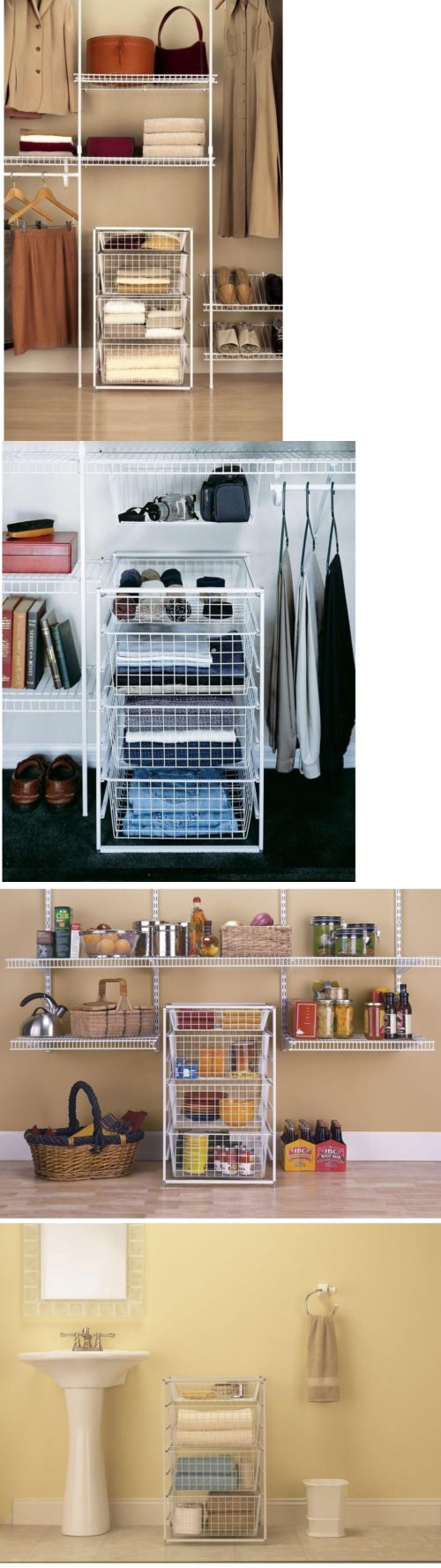 Storage Bins And Baskets 159898: Closet Storage Containers Office Laundry  Room Pantry Organizer Basket Closetmaid