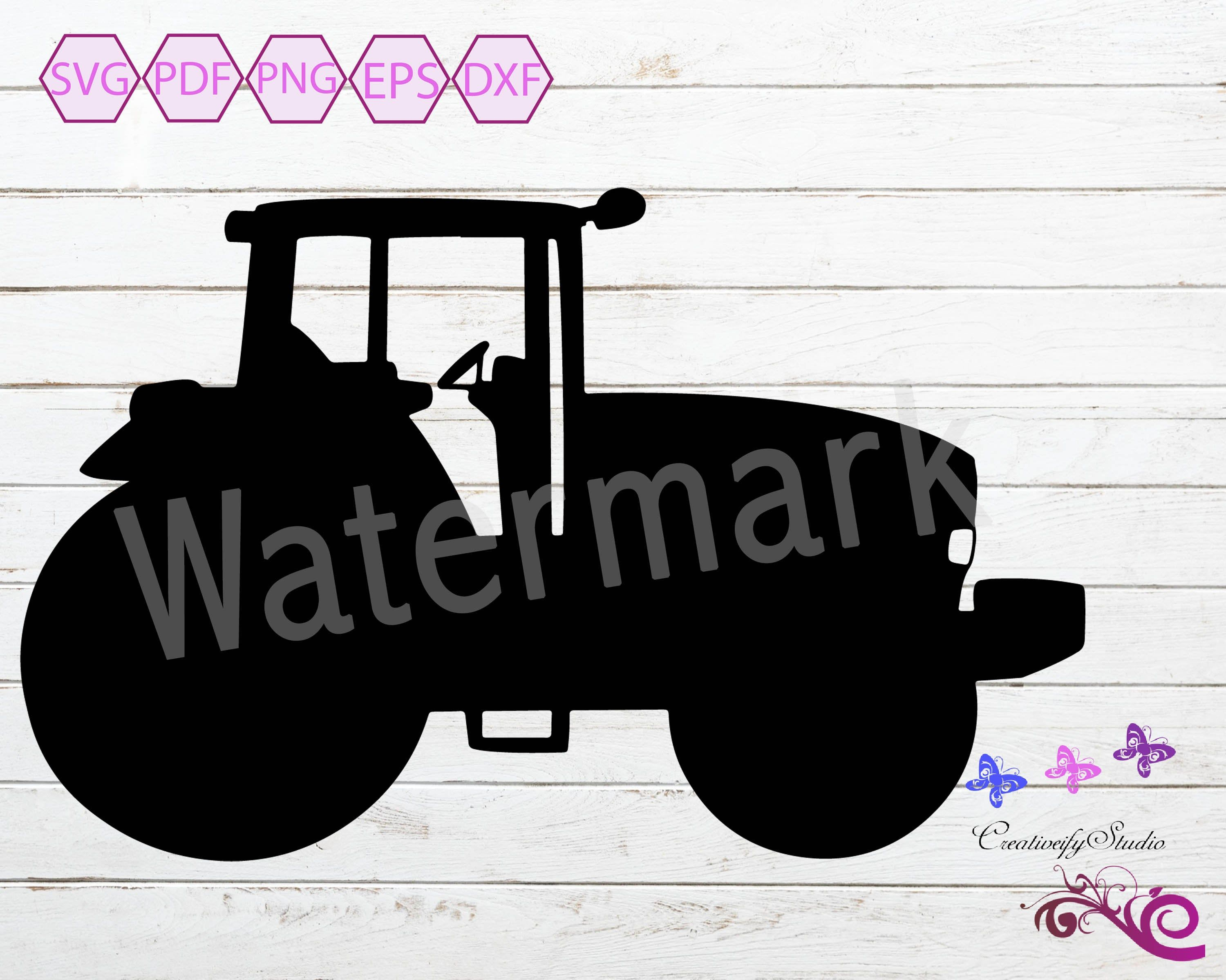Tractor Svg Silhouette Clipart Tractor Kids Farm Tractor Tractor Vector Construction Svg Transportation Clipart Digital Download Clip Art Digital Download Digital