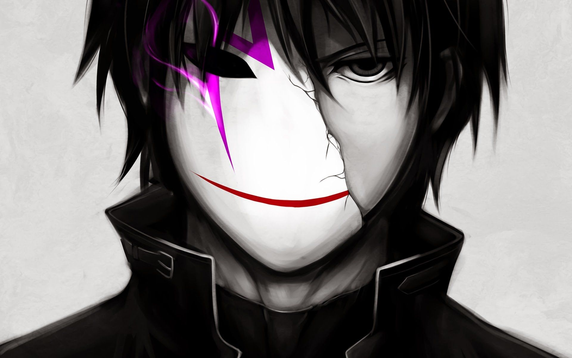 Top 10 Anime Most Badass Male char.'s Dark anime, Cute
