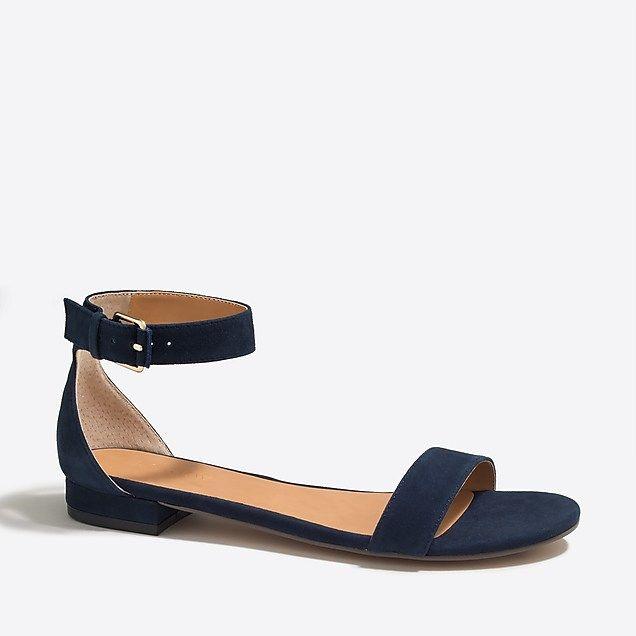 5c1d1588edb hadley suede ankle-strap sandals   factorywomen sandals
