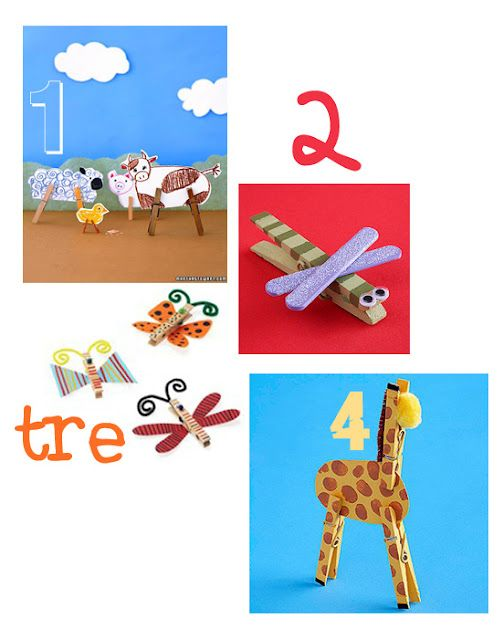 Fun ideas for clothes pins. Love the alphabet and color match pins.