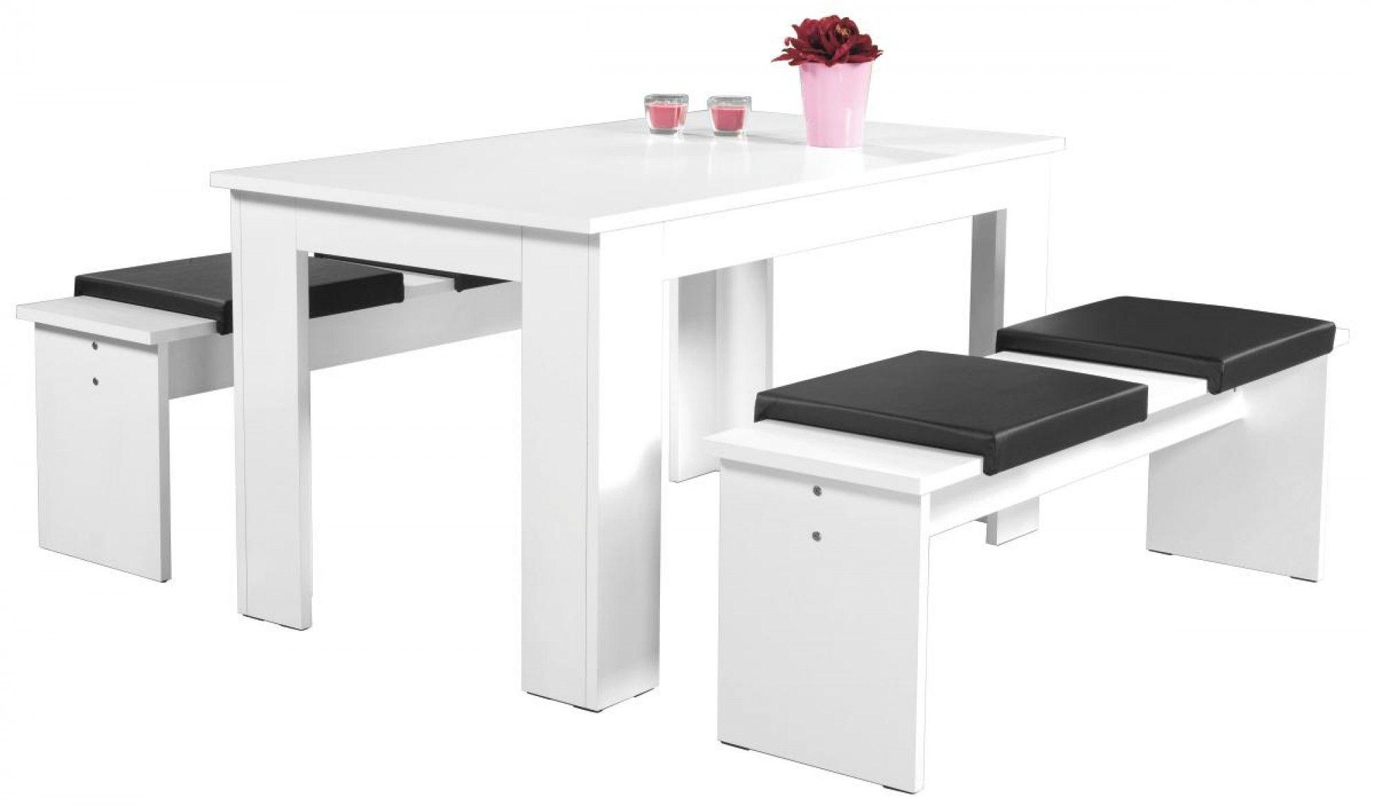 Jetzt Tischgruppe München weiß 140 günstig bei POCO kaufen ...