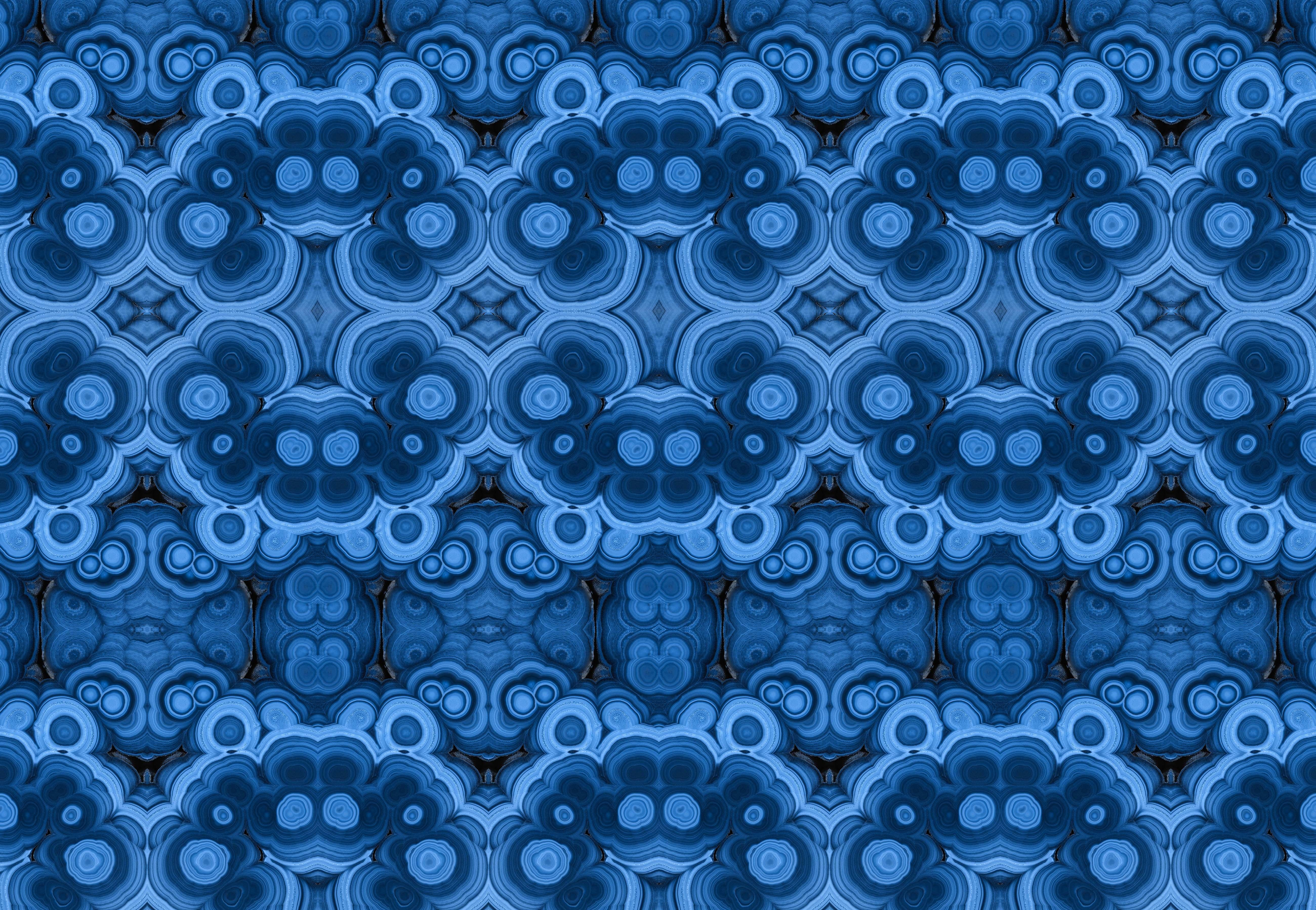 Buy Stone Wall Coverings   Blue Outswirl By Brenda Houston   Quick Ship  Designer Wallpaper From