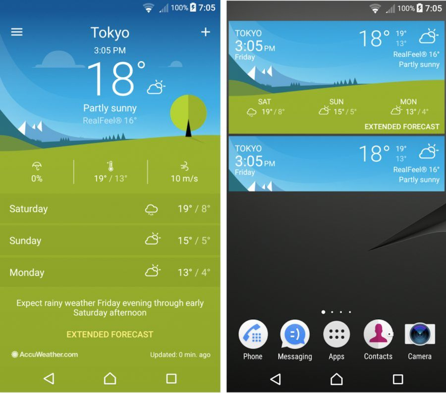 Sony Xperia Weather 1 1 A 0 22 App Updated Tech Updates App