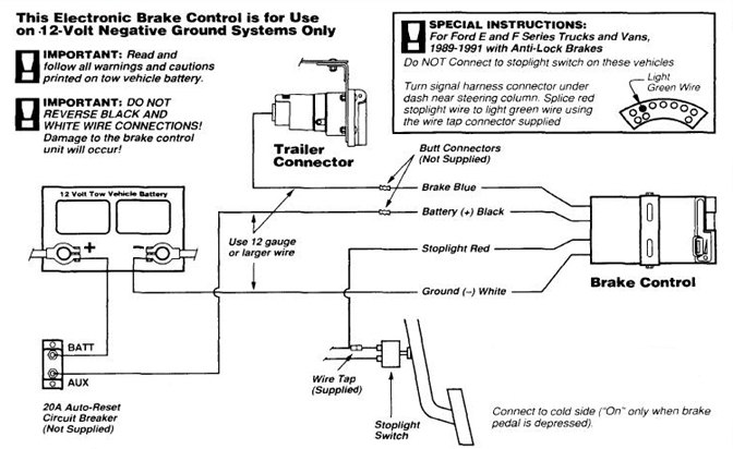 32 Wiring Diagram For Electric Brakes Trailer light