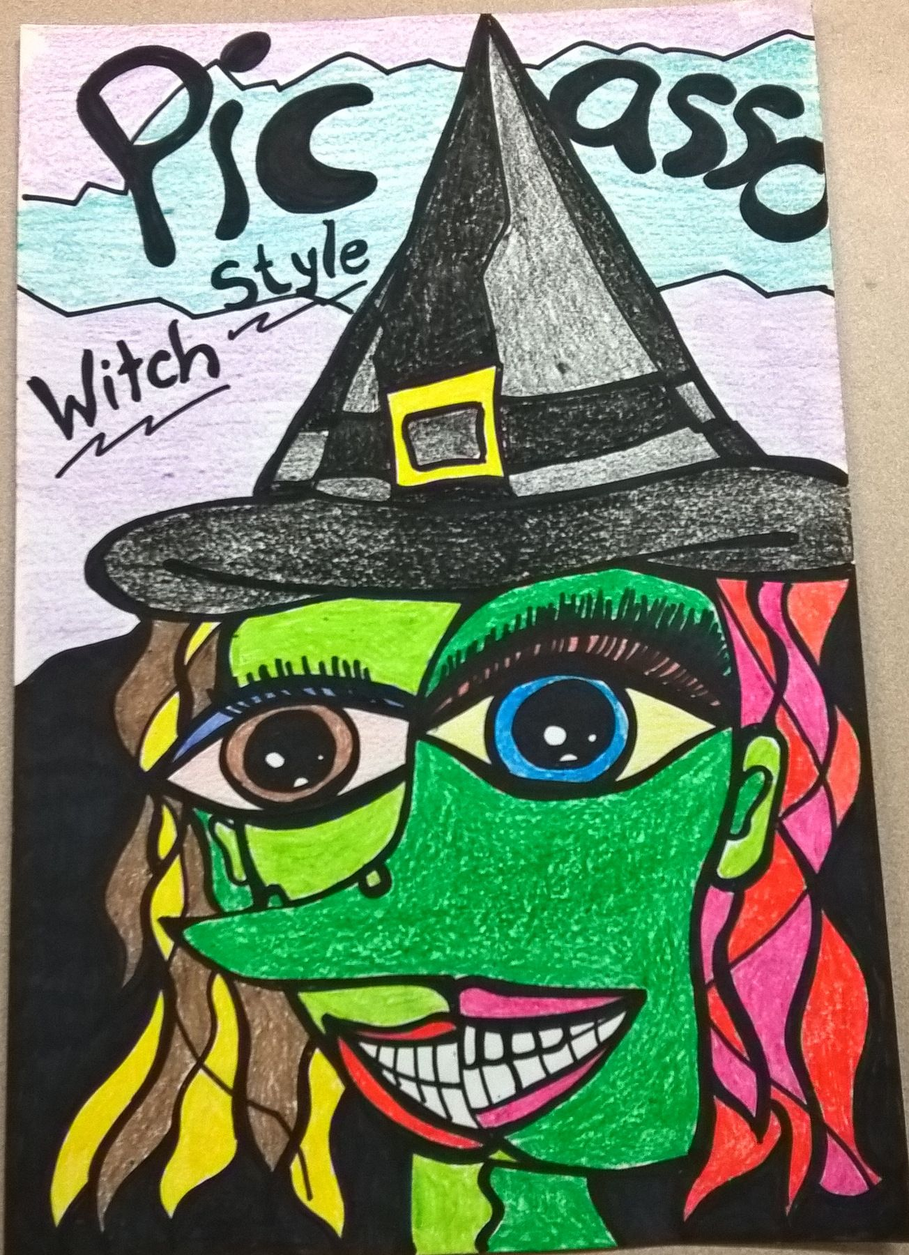 I Had My Students Do A Picasso Style Witch And This Was