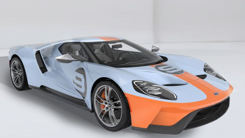 Ford Unveils 2019 Gt Heritage Edition With Gulf Livery Ford Gt