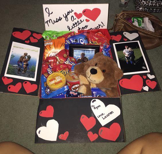 inspirebyandreacm: 10 Ideas para hacer cajas sorpresa de regalo si no... #boyfriendgiftbasket