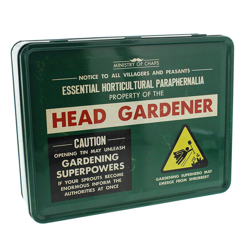 Head Gardener Man Tin   Gifts For Men   Pinterest   Gift