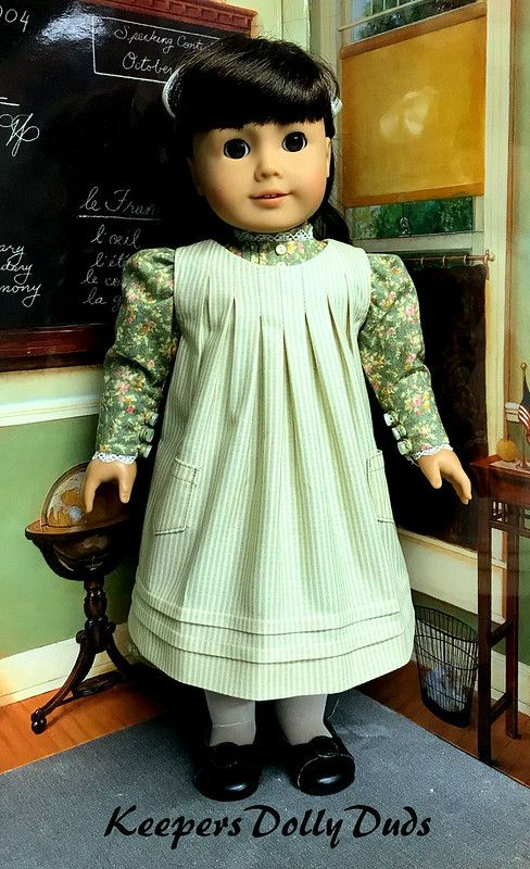 Edwardian Dress and Apron fit American Girl Doll