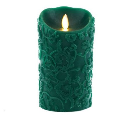 Luminara 5 Embossed Ivy Flameless Candle with Timer