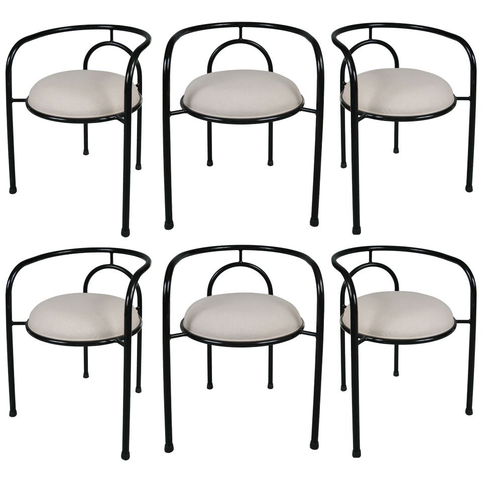 Curved Back Dining Room Chairs Pleasing Set Of Six Modern Curvedback Dining Chairs  From A Unique 2018