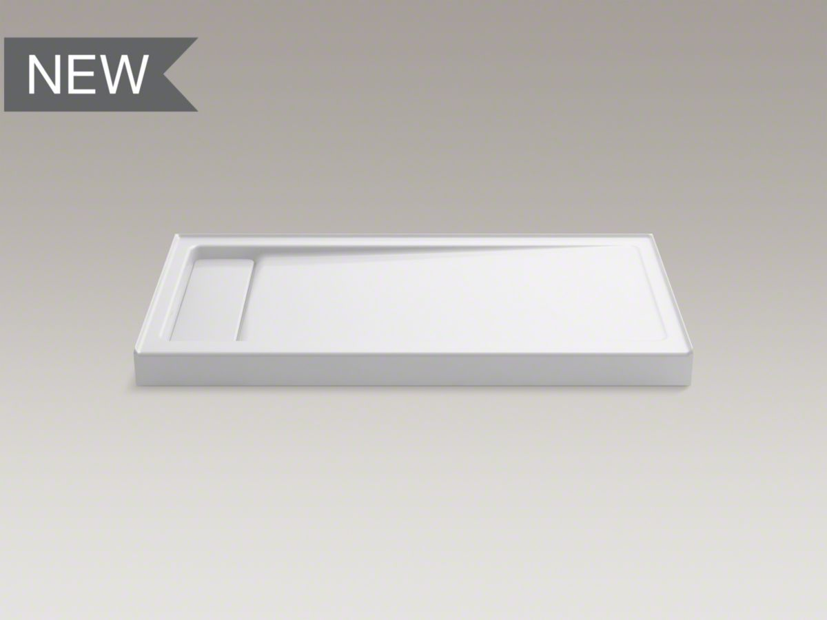 kohler bellwether shower pan is cast iron and has a 4 bath