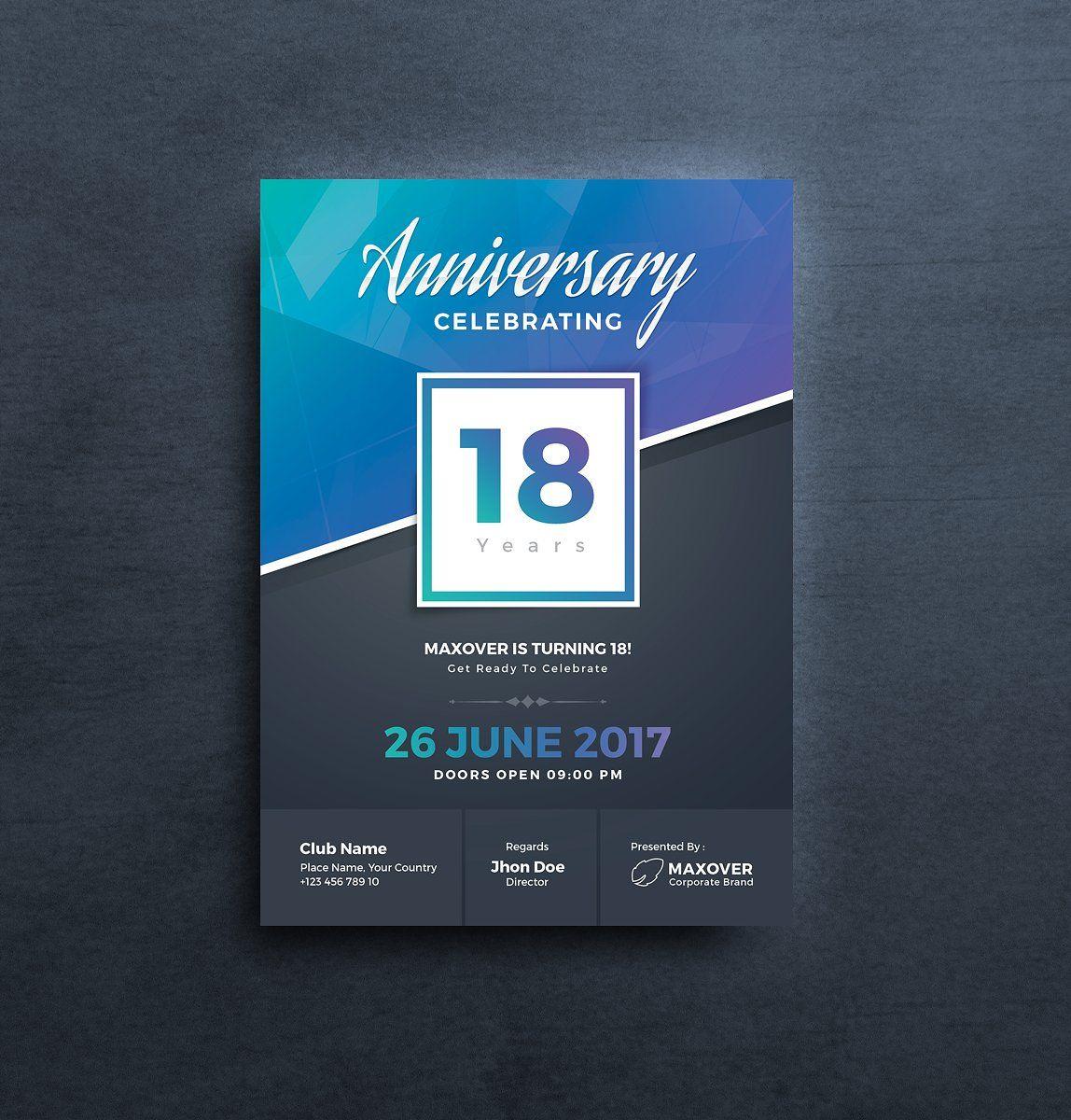 Anniversary Invitation PsdCMYKLayeredOrganised