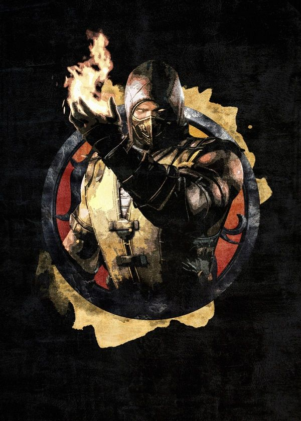 Mortal Kombat Circle Characters Displate Posters
