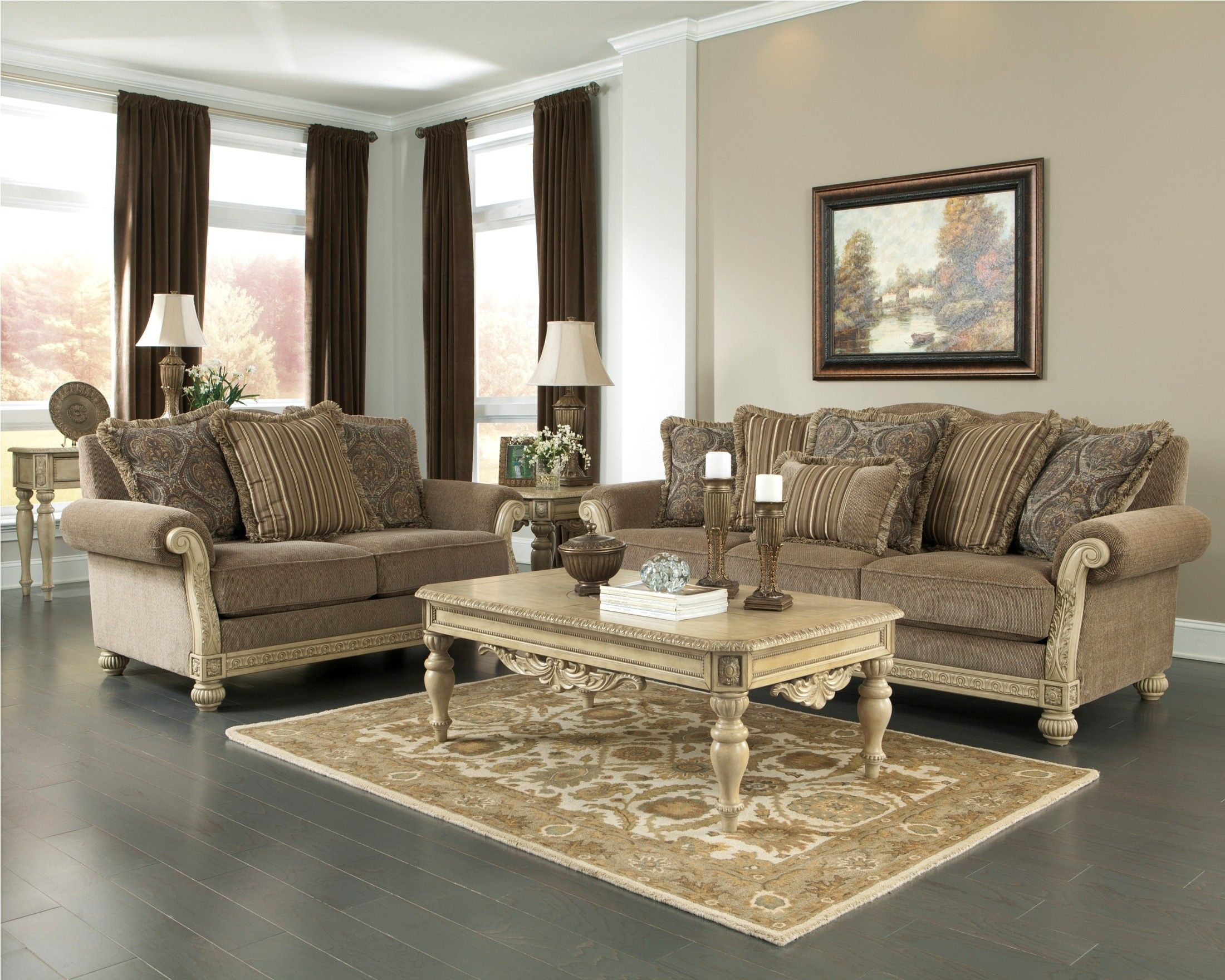 Parkington Bay Platinum Living Room Set