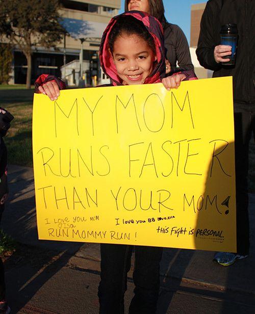 Running Signs Displayed By Kids At A Marathon Running Signs Marathon Signs Funny Marathon Signs