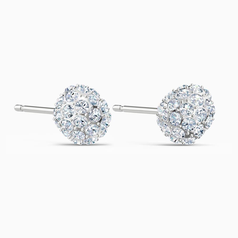 So Cool Stud Pierced Earrings White Rhodium Plated By Swarovski Earings Piercings Earrings Swarovski Earrings