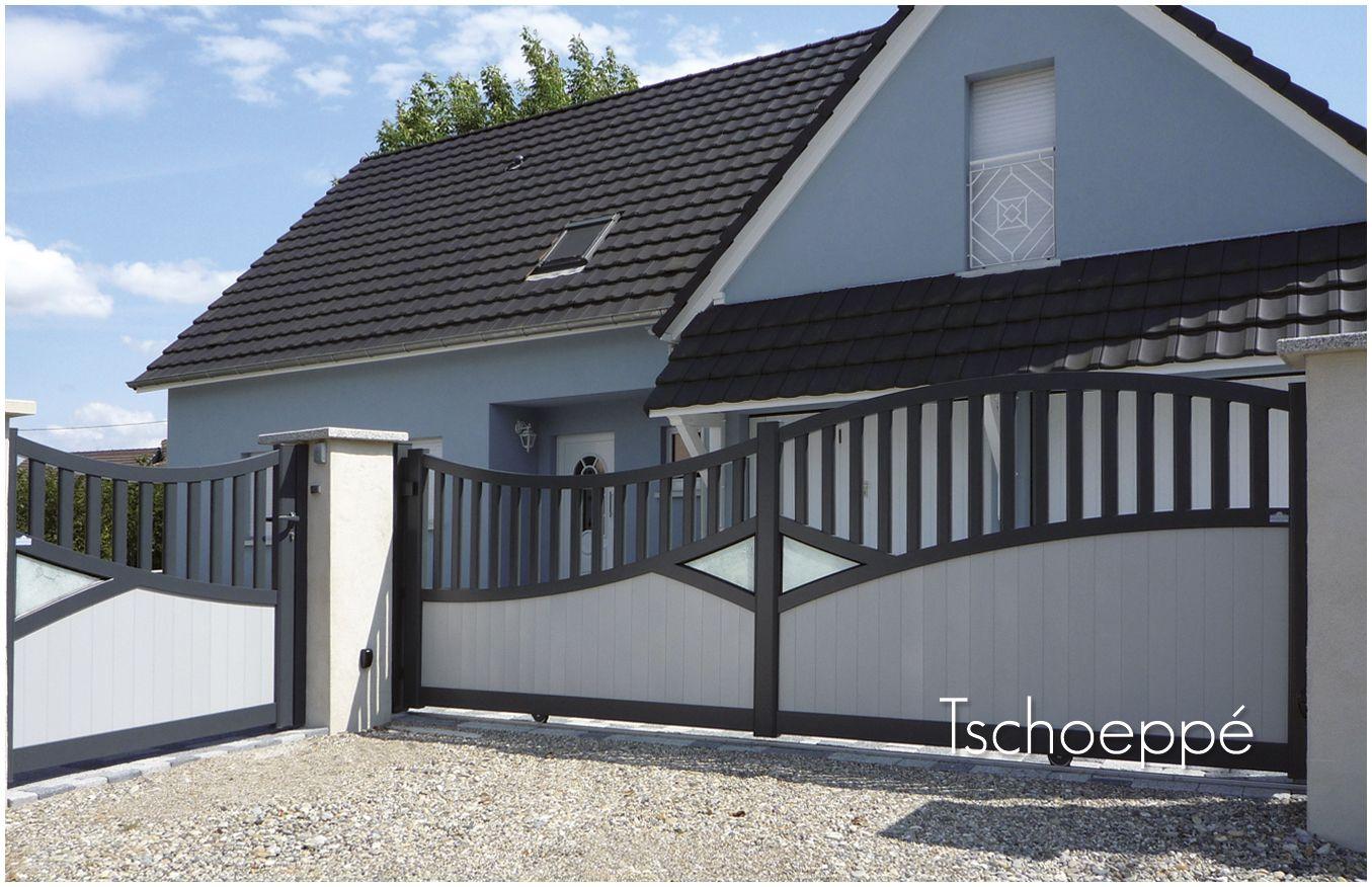 portillon et portail coulissant harmonie i 555 8 www. Black Bedroom Furniture Sets. Home Design Ideas
