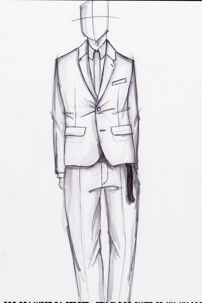 Fashion Sketch Body Male