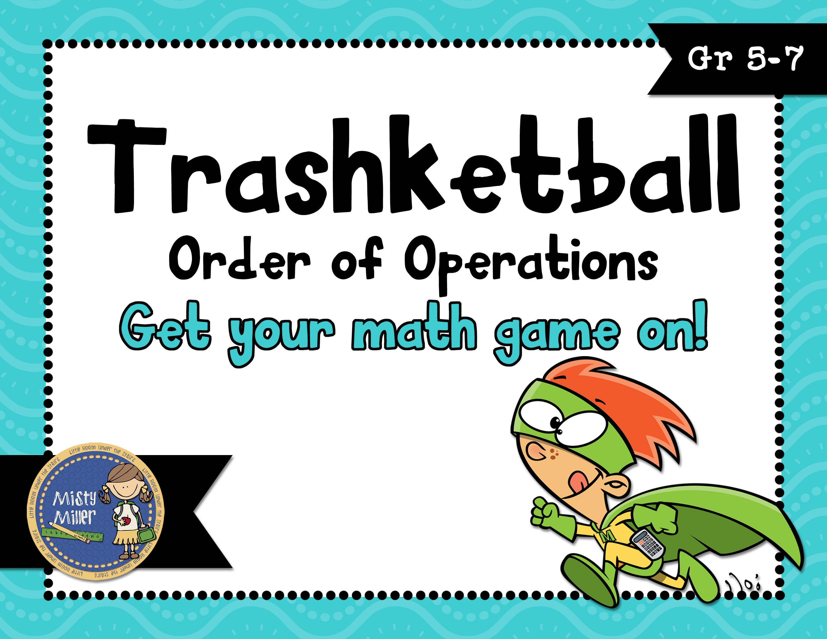 Order Of Operations Trashketball Math Game