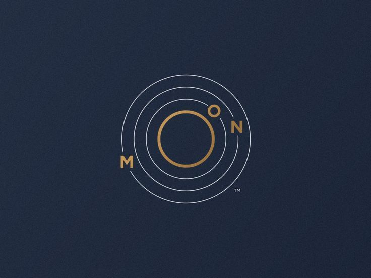 Moon Logo Orbit By Jorge Rico Logos Mond Logo Grafik