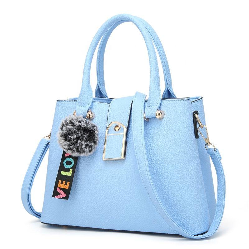 Hot Sale China Pu Leather Satchel Women Bag Designer Cross Body